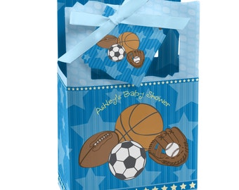 All Star Sports Favor Boxes - Custom Baby Shower and Birthday Party Supplies - Set of 12