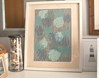 Exotic leaf pattern
