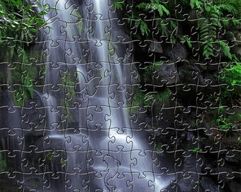 Fall in Eden Zen Puzzle - Hand crafted, eco-friendly, American made artisanal wooden jigsaw puzzle