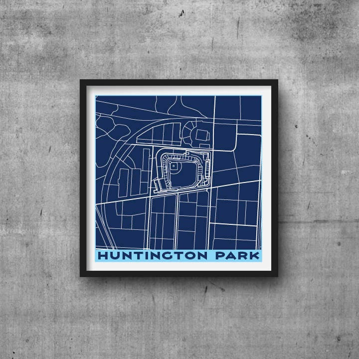 Huntington park columbus clippers city map giclee fine art description huntington park columbus clippers city map malvernweather Images