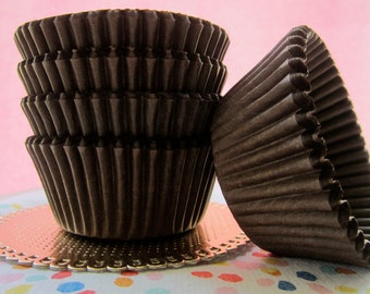 Chocolate Brown Cupcake Muffin Baking Cups