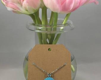 Chrysanthemum Necklace Sky Blue