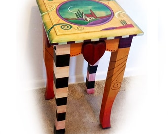 Tea Table Small Whimsical. ChuckPetersonDesigns