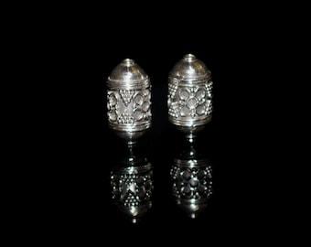 Two 20mm Sterling Silver Bali Beads, Silver Bali Beads, Sterling Silver Beads