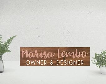 Personalized Desk Name Plate   Teacher Desk Sign   Wooden Name Sign   Wood Teacher Name Plate   Custom Office Name Sign   Gift For Teachers