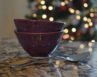 Pair of Ramekin Bowls in Smokey Merlot (Set of 2)