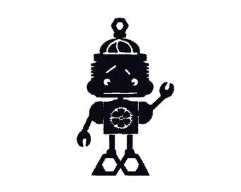 Robot embroidery design, Robot machine embroidery design, Robot embroidery pattern, Robot design, Robot embroidery idea, boy embroidery idea