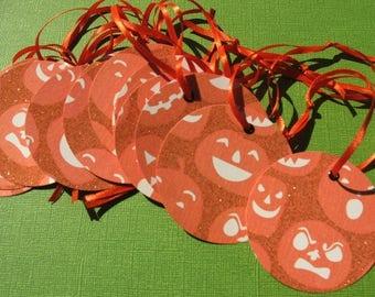 Jack O Lantern - Round Halloween Gift Tags