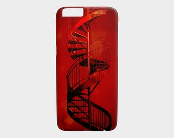 iphone 6 case iPhone 6S Case Montreal Architecture Red Spiral Staircase Cellphone Case Gear Pet Portrait - Cherry Twist