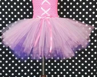 Rapunzel Inspired TuTu dress, Pink and purple Tutu dress