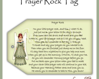 Prayer Rock Tags - CU Digital Printable - Immediate Download