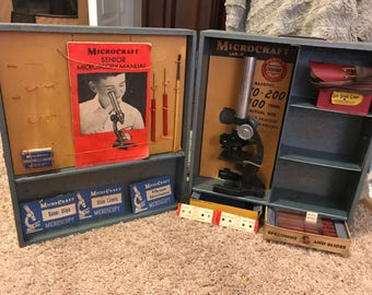 1954 Microcraft Porter Science Lab Master No. 336 Microscope Kit