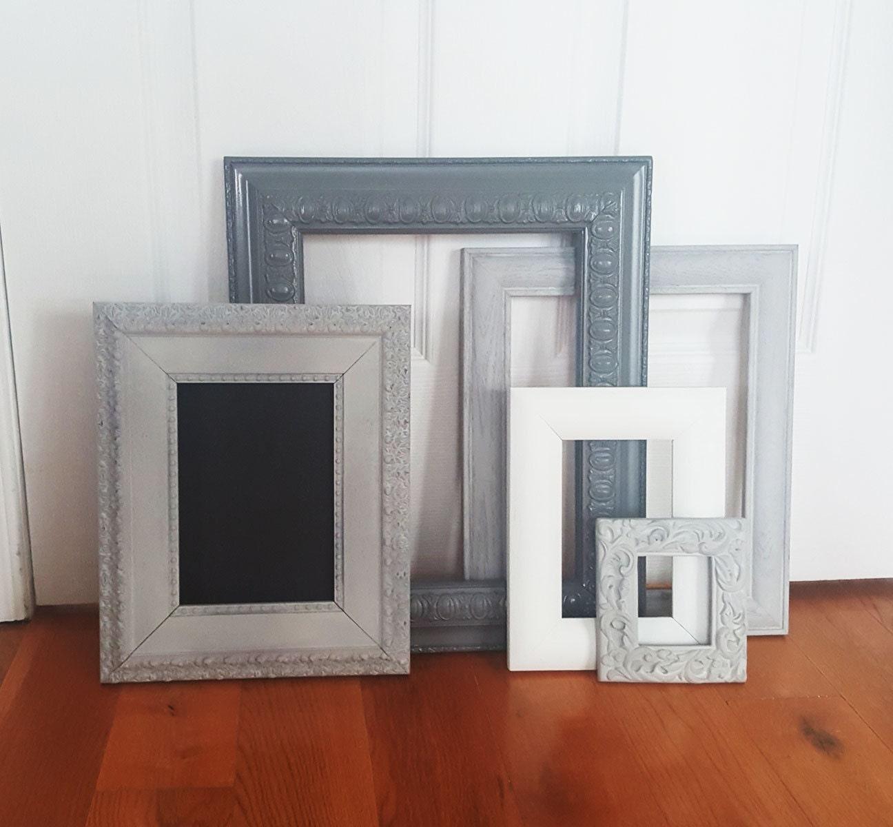 Home decor, Vintage Frames, Set of 5 empty frames, Picture Frames ...