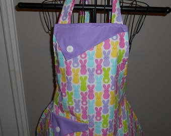 Pastel Easter Bunnies Women's Apron