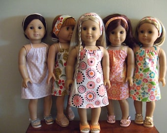 "Girl Doll 18"" in Girl Doll Clothes -  Birthday Party Favors/ Party Pack - Halter Dress n Headband Sets"