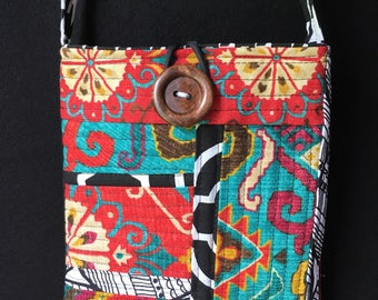 Improv Abstract Art Quilted Crossbody Bag