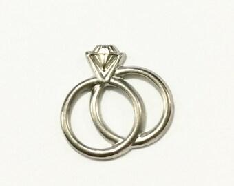 Metal Wedding Rings Embellishment (12 pcs)