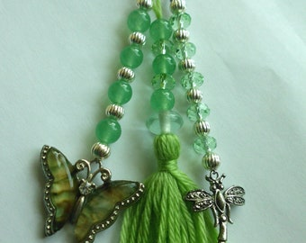 Winged Delight Key Chain / Bag Charm Hand Made OOAK