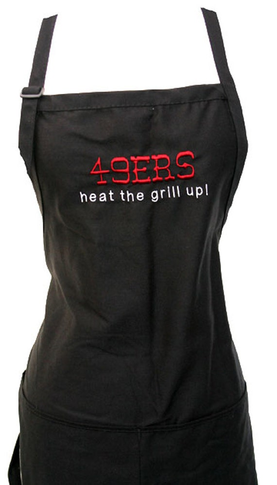 49ers heat the grill up! (Adult Apron)