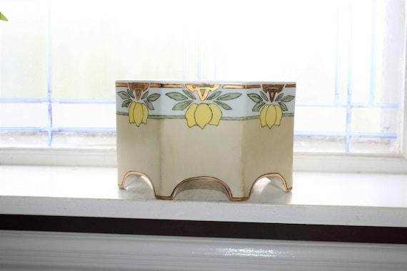 Art Deco Porcelain Jardiniere Bernardaud B & Co Limoges Vintage 1920s