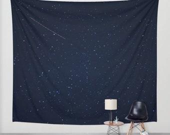 real stars tapestry, wall hanging, stars tapestry, night sky, starry night, bohemian, nursery decor, space, dark, three sizes