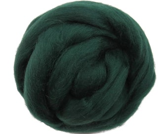 New! 21.5mic Merino Wool Roving , Color: Spruce