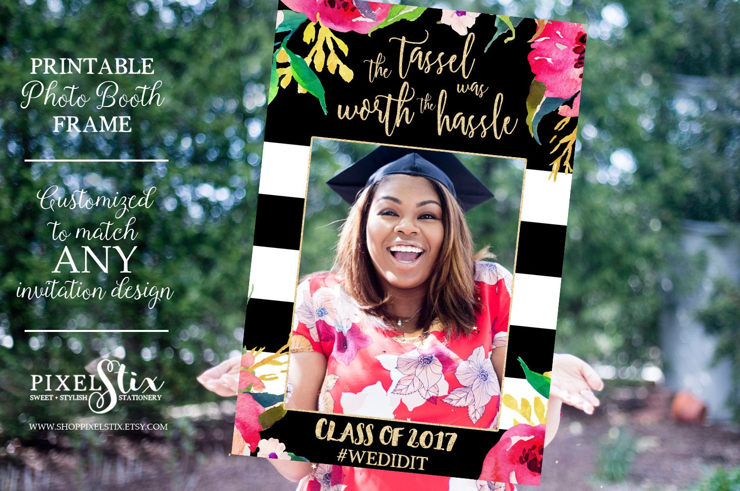 Graduation Party Photo Prop Frame Grad Photo Prop Class of