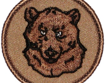 Grumpy Bear Patch - 2 Inch Diameter Embroidered Patch