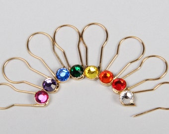 Crystaletts Pin -Sparkling Stitch Markers