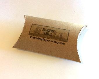 Pillow boxes, custom printed pillow box, set of 12, kraft white cream box, personalized pillow box