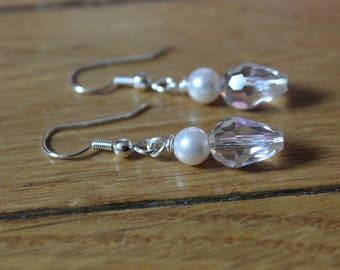 Antique Crystal & Pearl Earrings