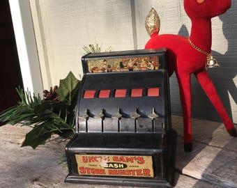 Uncle Sam vintage toy store register