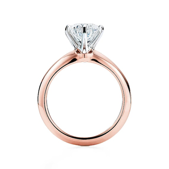 6 prong engagement ring rose gold engagement rings