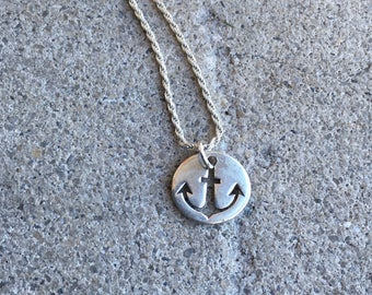 Sterling Silver Anchor Necklace - Nautical Jewelry - Navy - Fishing - Salt Life - Florida - Simple - Modern - Classic