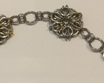 Steel bracelet with Celtic knot