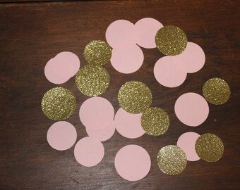 Pink and Gold Glitter Confetti, Winter Wonderland Confetti, Pink and Gold Birthday, Baby Girl Shower, Pink and Gold Confetti, Princess Party