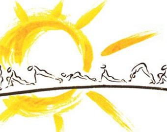 Yoga: Sun Salutation 12x20 Limited Edition print