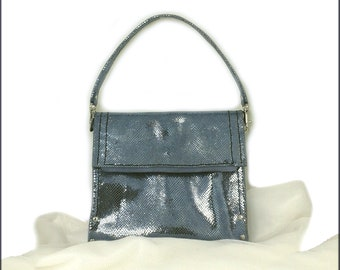 Small leather clutch evening bag, leather money pouch