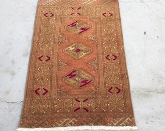 3 ft x 2 ft ( 90 x 60 cm ) Gorgeous runner rug pastel rug vintage rug anatolian rug Qushak rug türkish rug small rug