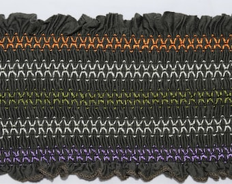 Sale****Ruched Trimming with Multi Color details