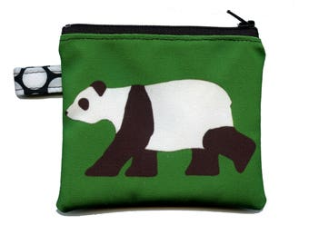 Peter the Giant Panda Bear Zippered Pouch by SBMathieu