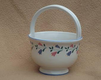 Vintage RB Bernarda Pottery; Vintage Flower Pot from Portugal