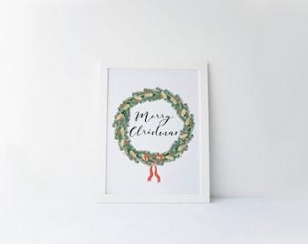 Printable art Christmas printable Merry Christmas Wall art decor Winter decor prints Christmas decor Holiday print Christmas wall art print