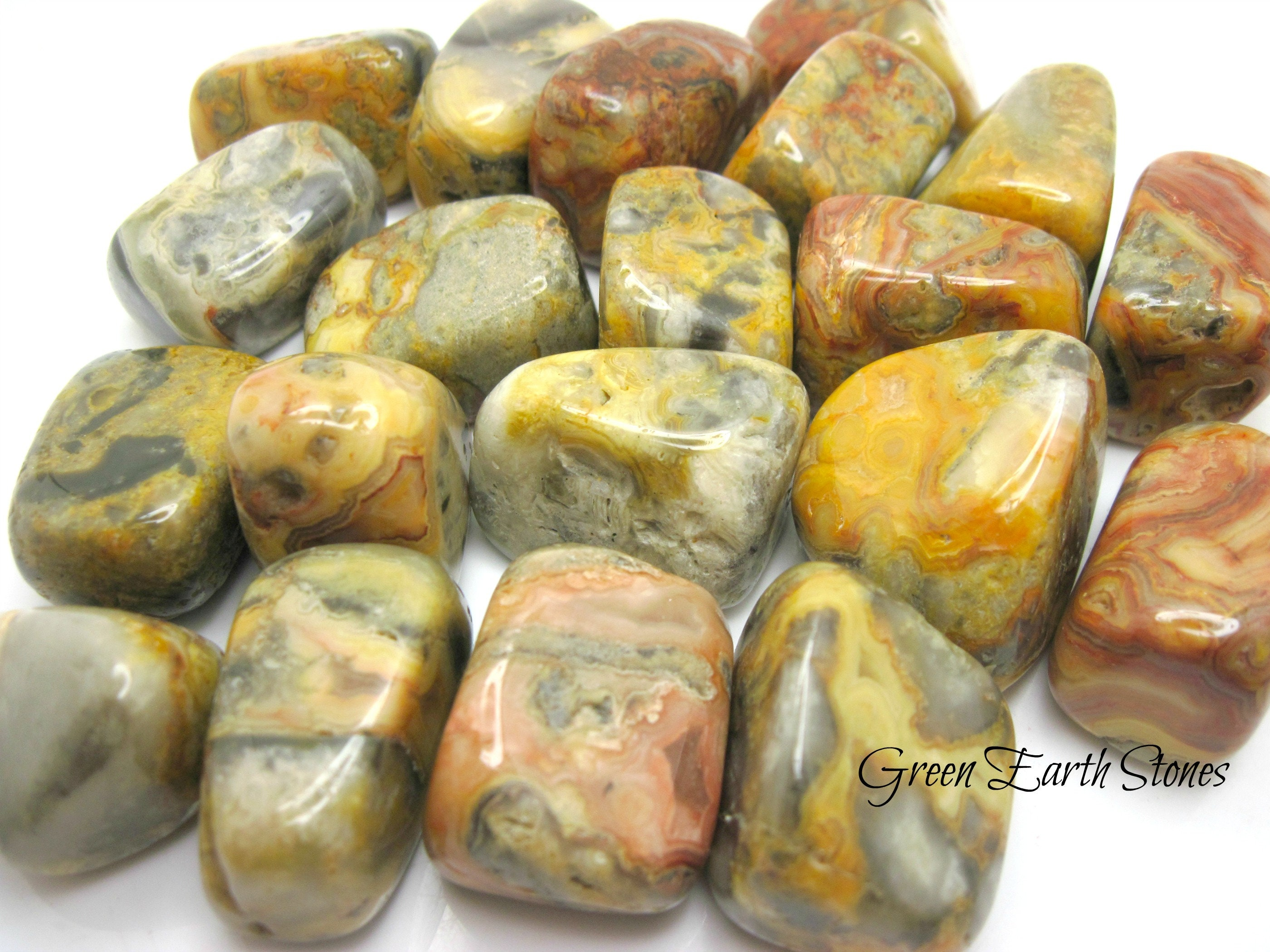 Crazy Lace Agate Tumbled Stone one Rock Hound Pocket