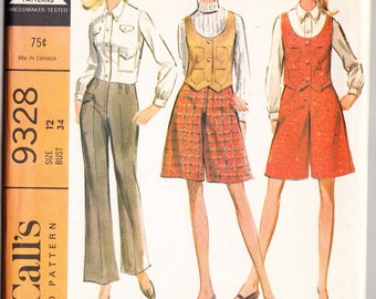 Vintage 1968 McCall's 9328 UNCUT Sewing Pattern Misses' and Junior's Separates Size 12 Bust 34