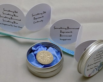 Something Old, Something New... and a Sixpence for her Shoe in a keepsake Tin