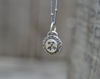 Arrows . Sterling Necklace . Necklace. Handmade . Rustic . Earthy . Boho .