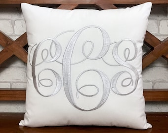 30%OFF Monogram Pillow Personalized Valentine Kids Nursery Gift Dorm Decor Mr and Mrs Wedding Housewarming Gift in all Sizes and Colors.