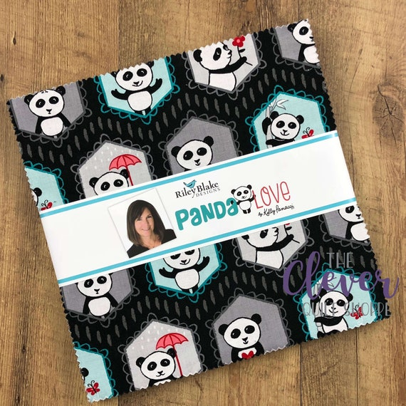 Layer Cake, Squares, Panda Love, Riley Blake Designs, Kelly Panacci, Childrens Fabric, Baby Quilt, Cute Fabric, Kids Fabric, Quilting Fabric