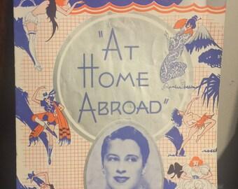 1935 At Home Abroad Souvenir Program - Beatrice Lillie - Vincente Minnelli